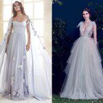 从粉嫩到高冷,蓝色系婚纱超越你的想像